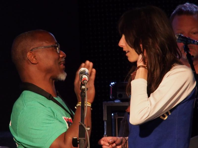 Karl Denson with San Francisco-based singer Nicki Bluhm, who opened the Belly Up show