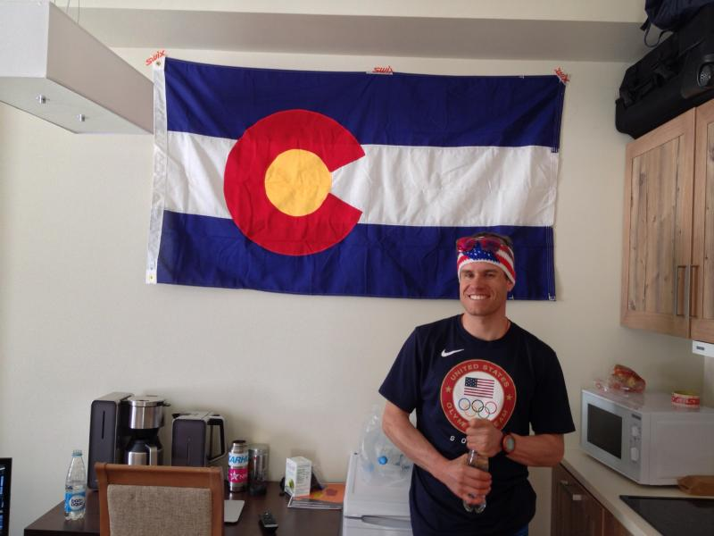 The Colorado flag, given to Noah and Sim by Senator Schwartz made me teary when I walked into the cross country boys unit and it was hanging proudly in the main space.