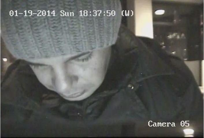 Image released by Aspen Police of alleged ATM Skimmer who's device was found on the machine at Wells Fargo bank in January 2014