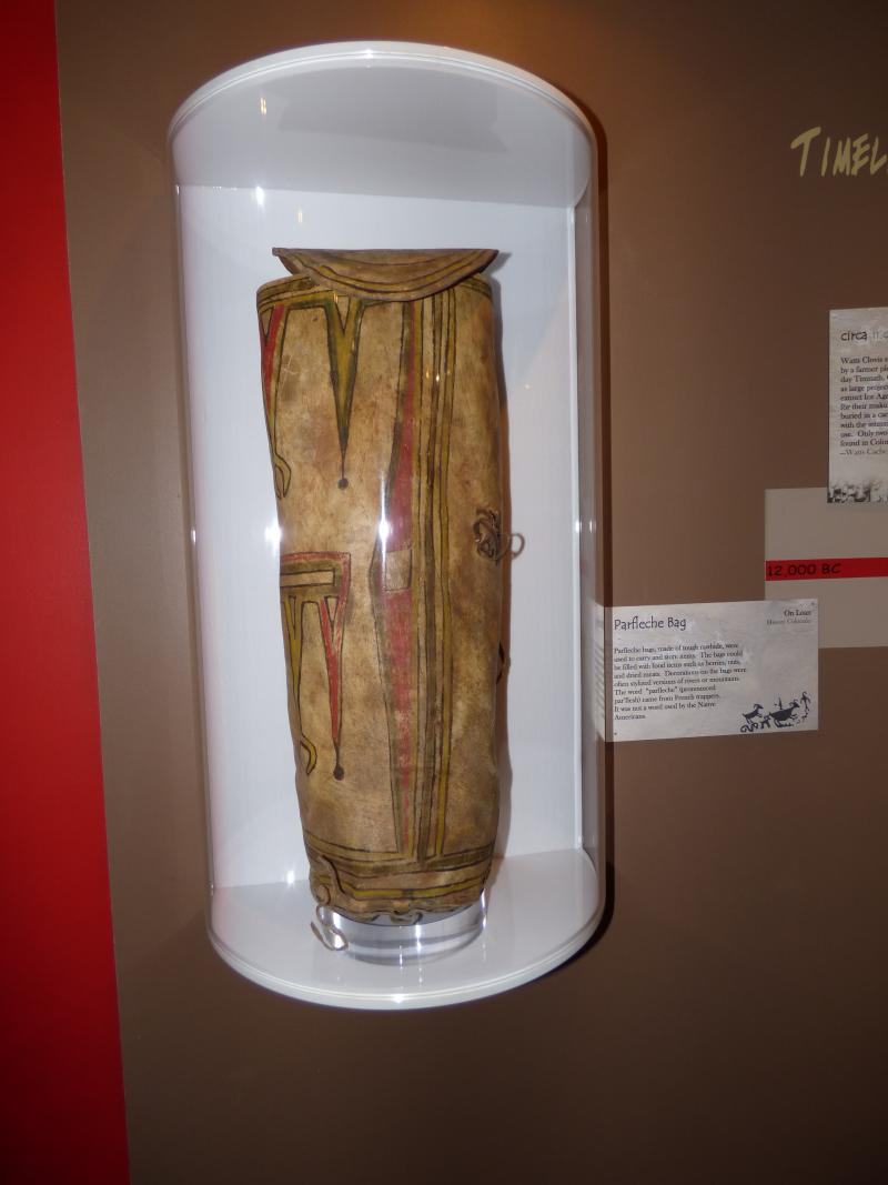 The Ute Indians used the rawhide parfleche bag to carry things like berries, nuts and meat.