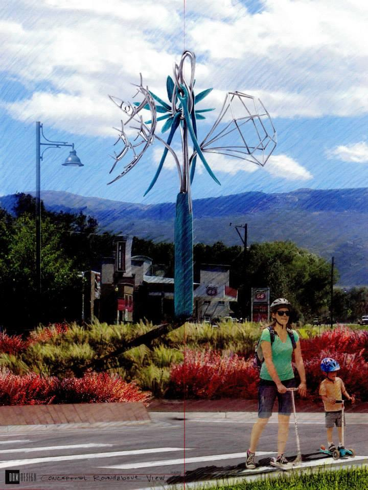 Roundabout and James Surls sculpture planned for intersection at Highway 133 and Main Street.