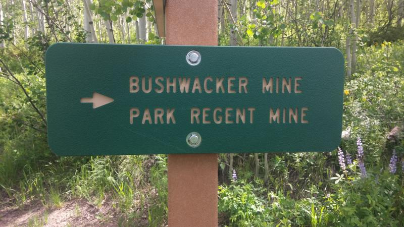 New signs created to highlight the old mine sites on Smuggler Mountain.