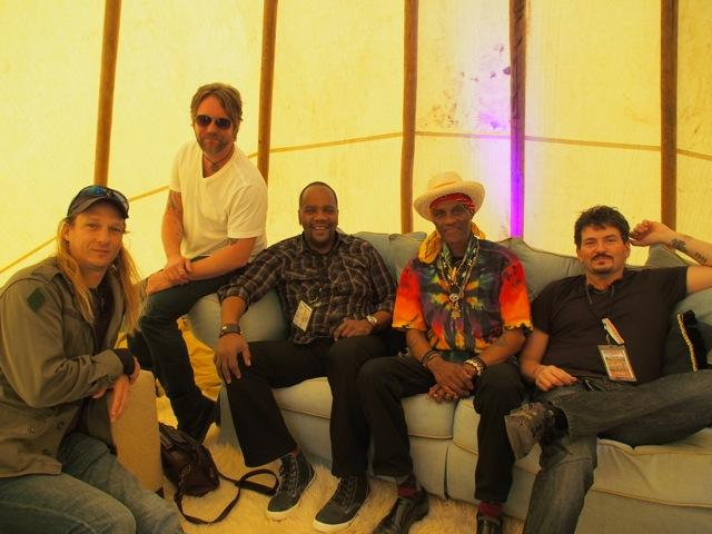 Royal Southern Brotherhood - From left: Charlie Wooten, Devon Allman, Yonrico Scott, Cyril Neville, Mike Zito