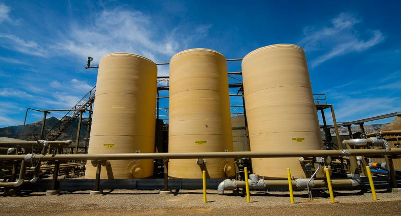 The first phase of treating produced water occurs in these skim tanks, where condensate is removed.