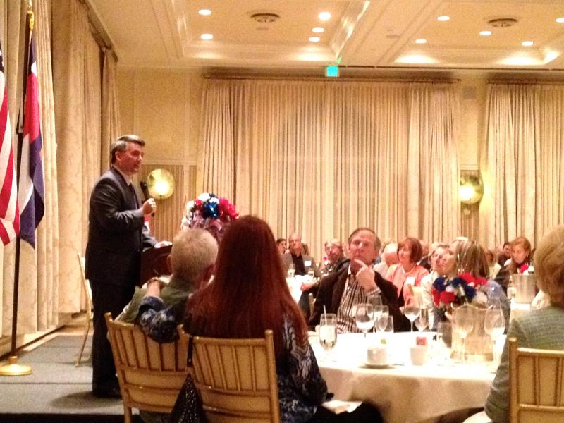 Republican Congressman, and U.S. Senate candidate Cory Gardner speaks at the Pitkin County Republicans 2014 Lincoln Day Dinner.