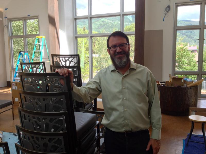 Rabbi Mendel Mintz, and his wife, Leiba, co-direct the Aspen Chabad Jewish Community Center, at it's shiny new location on East Main. The center, which includes a synagogue, opens Thursday, August 7th.