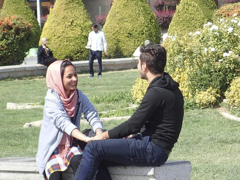 A young couple in Tehran.