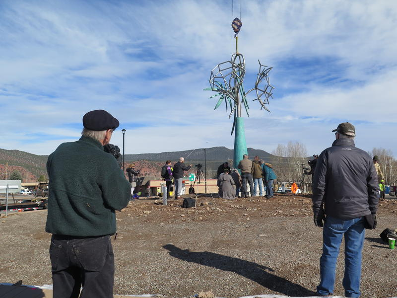 The sculpture is 20 feet tall.