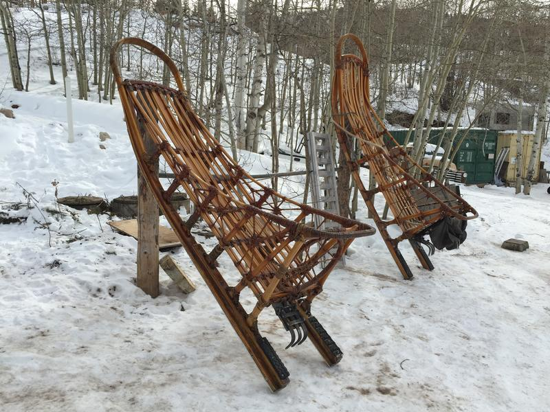 Dog sleds used by Krabloonik, handmade by founder and former owner Dan MacEachen, now facing animal cruelty charges.