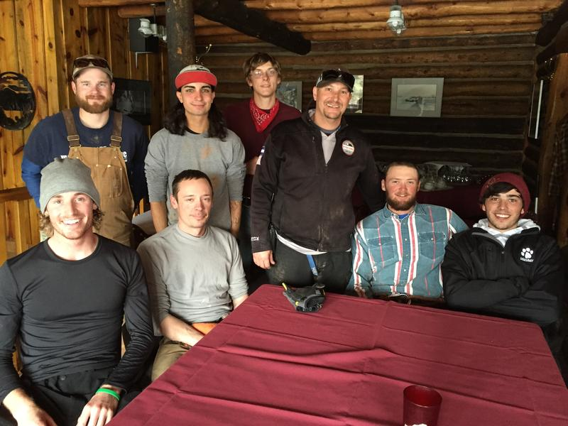 Krabloonik mushers take a quick break during lunch.