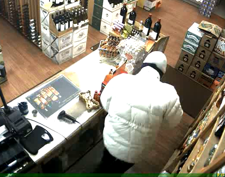 Basalt Police released three images from a surveillance camera. The photos show the suspect who robbed a Jimbo's Liquor in Basalt Friday night.