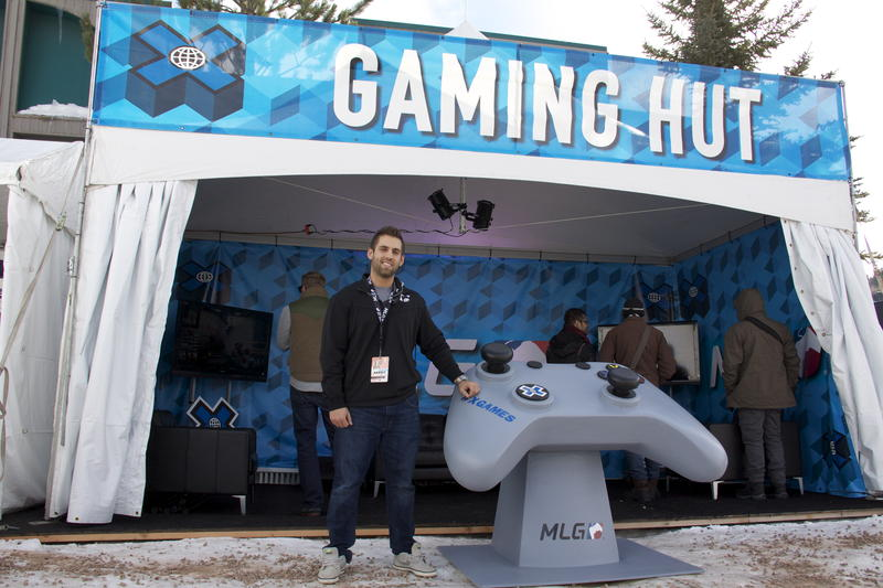 Spencer Peterson is head Project Manager for Counter-Strike: Global Offensive for Major League Gaming. The Gaming Hut was next to the main competition tent at the Winter X Games in Aspen.