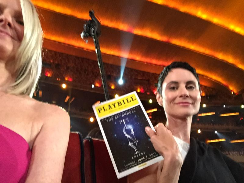 Part-time Snowmass Village resident Beth Malone at the Tony Awards Sunday. Her partner Rochelle Schoppert is next to her.