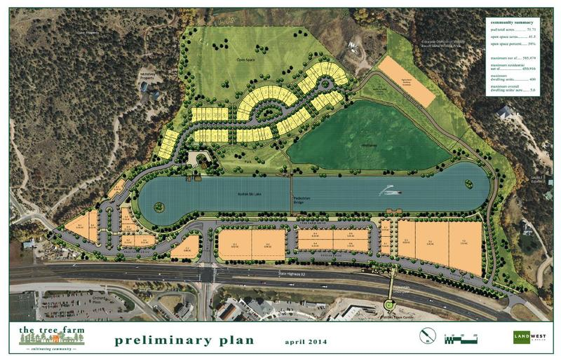 The preliminary plan for The Tree Farm proposal.