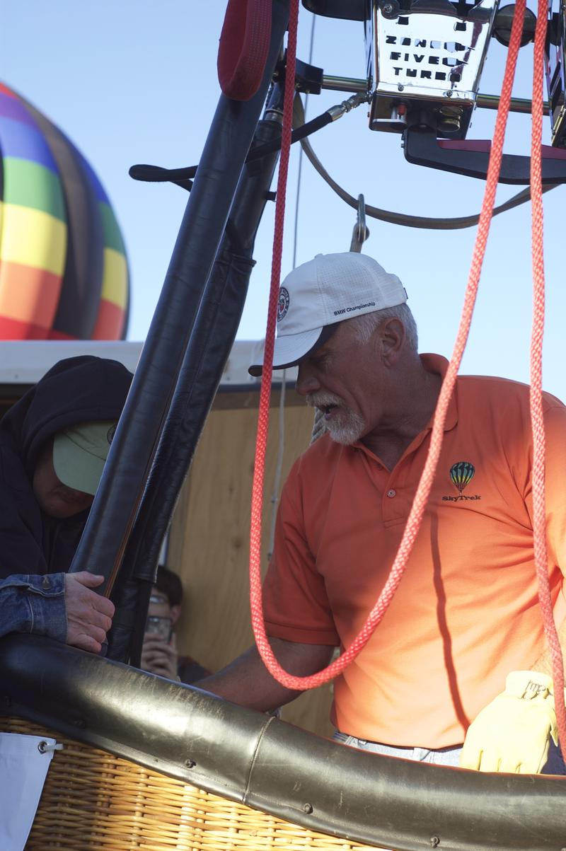 Pilot Mike Johnson prepares for launch during the Snowmass Balloon Festival on Saturday, September 19th, 2015.