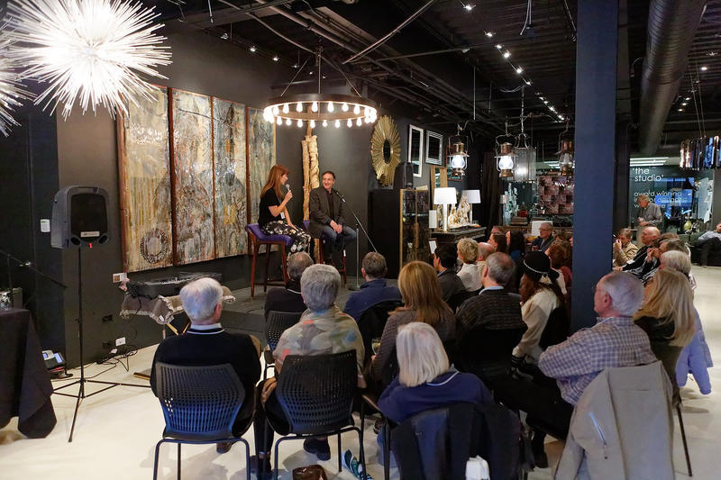Ira Flatow of Science Friday is interviewed by Danielle Dana at the Aspen Design Room in February 2017.