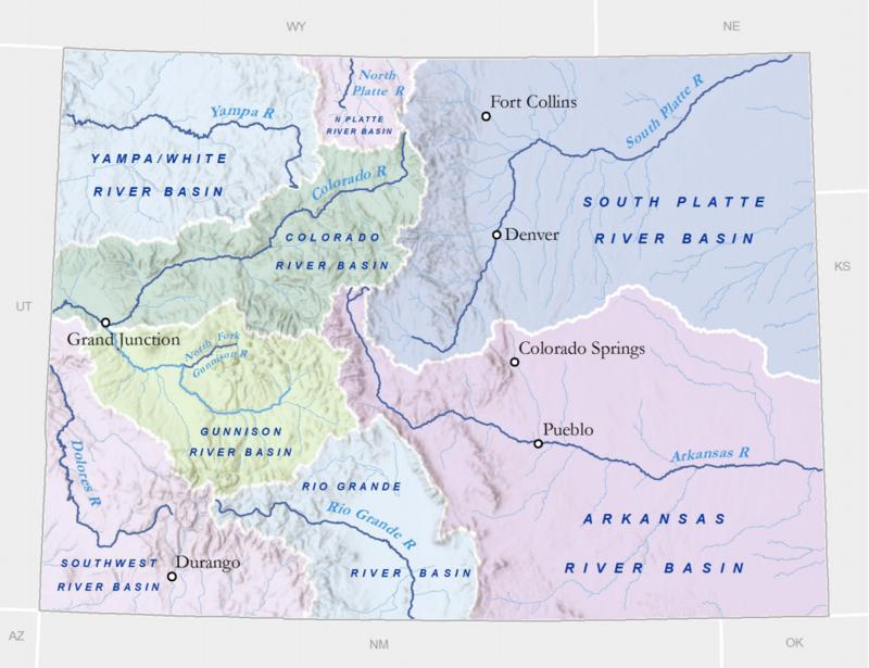 Colorado Rivers Receive Mostly Poor Marks On Report Card Aspen - Colorado river map world atlas