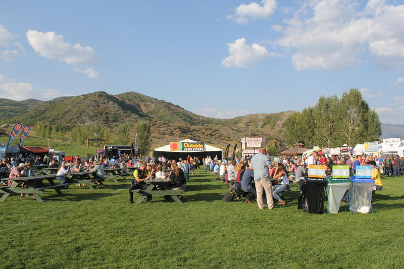 The food court and shopping area of the festival