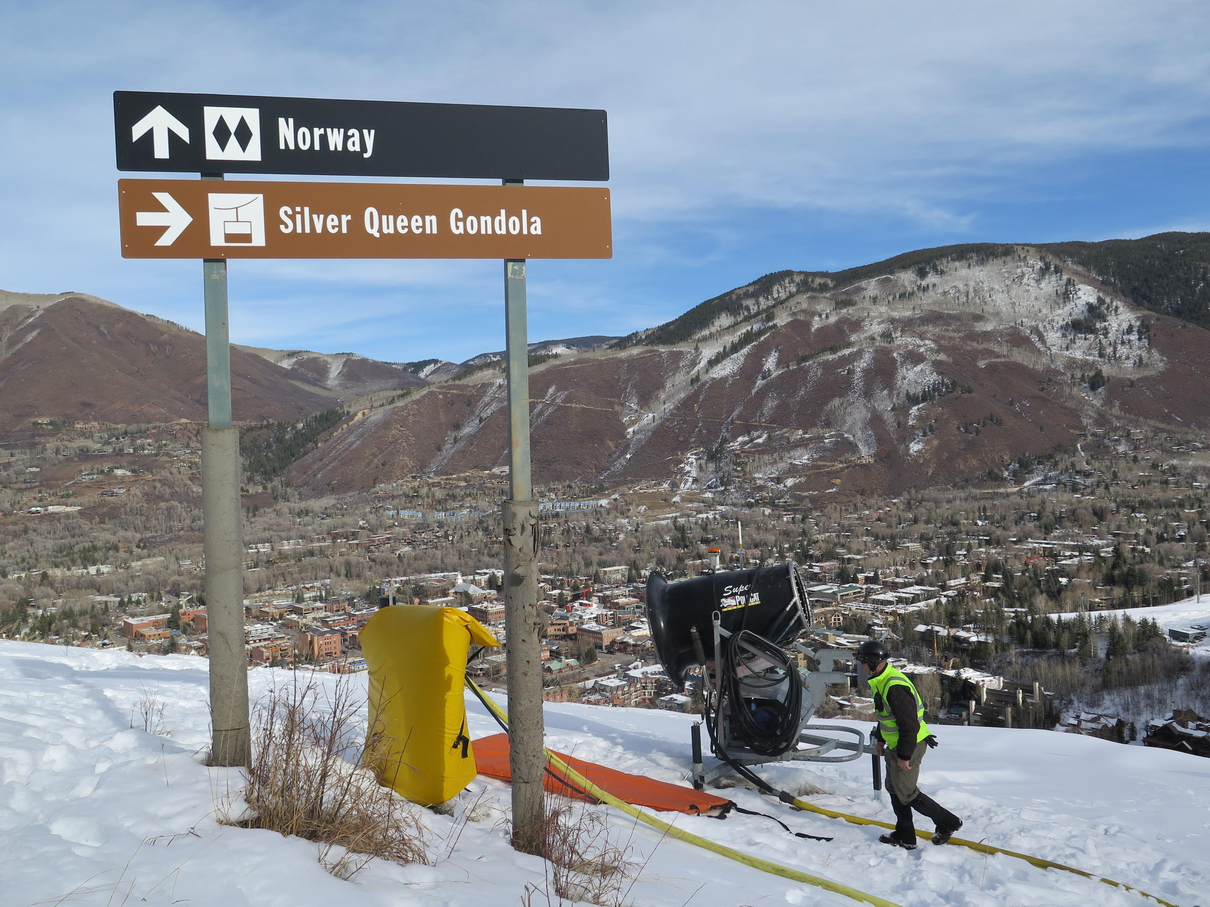 as more resorts make snow, climate change spells trouble | aspen