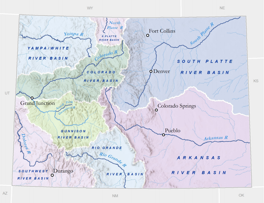 Colorado Rivers Receive Mostly Poor Marks On Report Card Aspen - Colorado river world map