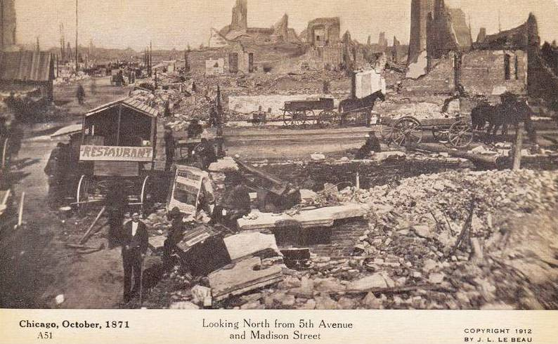 the aftermath of the chicago fire in 1871 The great chicago fire of 1871: a story of human tragedy and triumph  chicago fire of 1871 is not  the aftermath and effects of the great chicago fire of 1871.