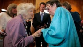 Del Martin & Phyllis Lyon, married in San Francisco City Hall Feb. 12, 2004, by Mayor Gavin Newsom