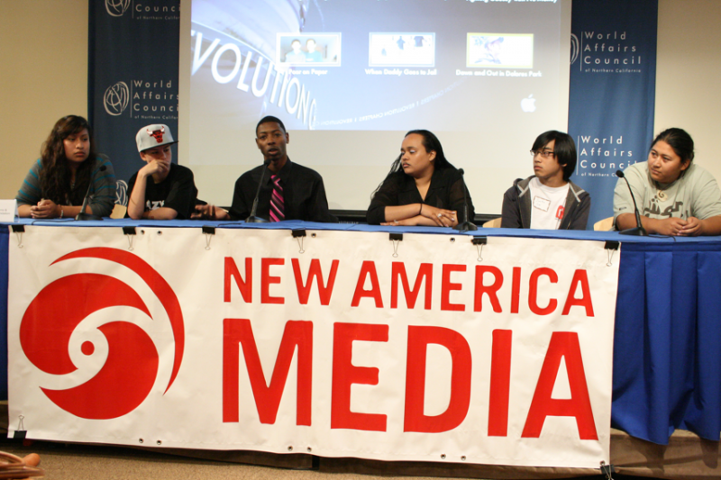 Panelists at Kidsdata and New America Media's (NAM) forum on poverty among young people in California.