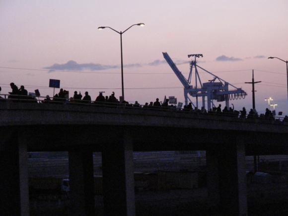 Protesters march on the Port of Oakland, 12/12/11
