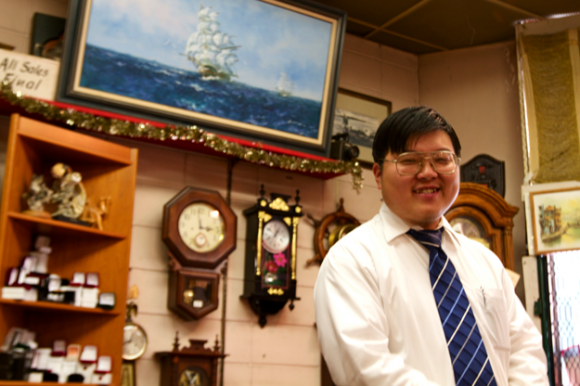 Al Choi manages Piper's Jewelers on Market Street.