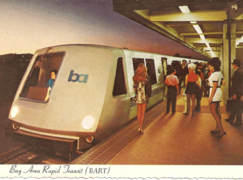 BART postcard from the 1970s. Image courtesy of BART.