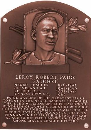 Satchel Paige inducted into Baseball Hall OF Fame 1971 - see highlighted story below