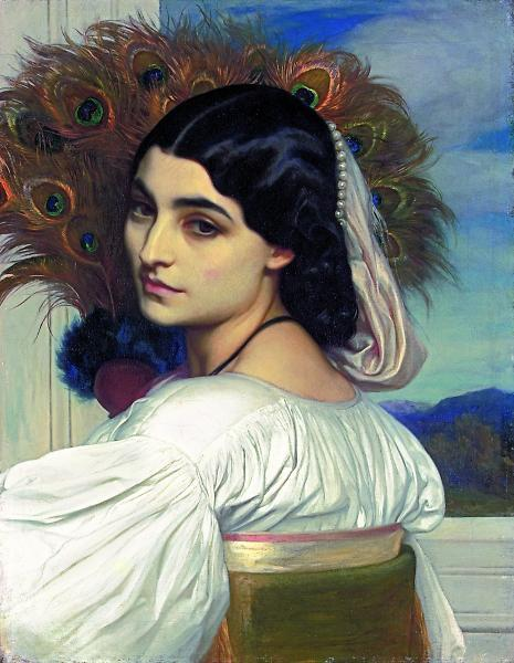 Frederick Leighton, Pavonia 1858-9. Oil on canvas.