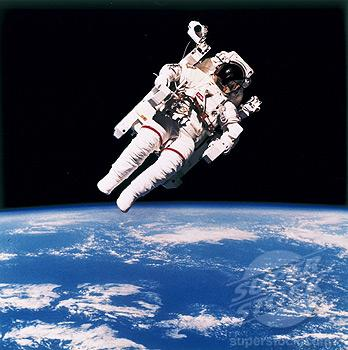 "Bruce McCandless' ""first untethered spacewalk"" - see highlighted story below"