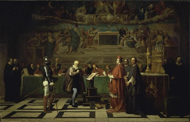 Galileo faces the Roman Inquisition (see highlighted story below)