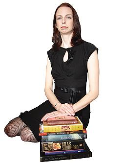"Sarah Houghton authors the library technology blog ""Librarian in Black""."