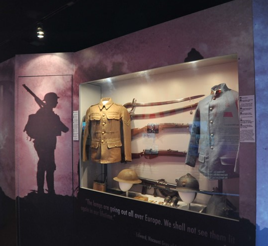 Visitors get a glimpse at trench warfare in WWI exhibit.