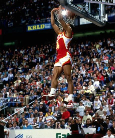 1986 NBA Slam Dunk Contest -(see highlighted story below)