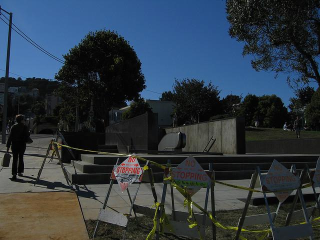Transportation construction at Duboce Park