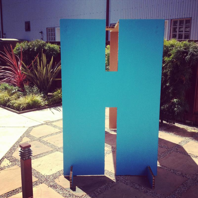 """Life size """"H"""". (Created by Oakland firm Ministers of the Environment)"""