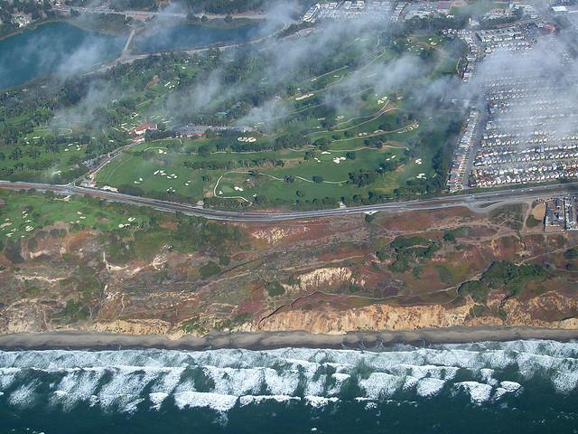 The Olympic Club golf course from overhead