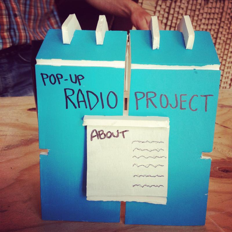Scale model of recording booth. (Created by Oakland firm Ministers of the Environment)