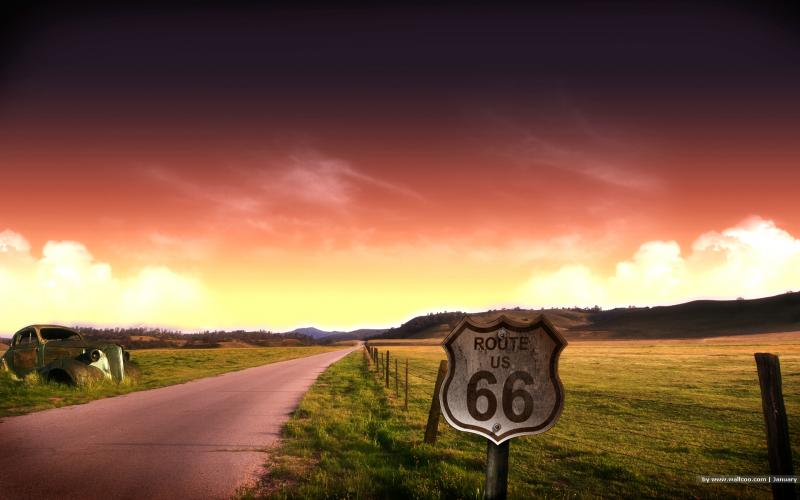 1985 - Route 66 decertified (highlighted story below)