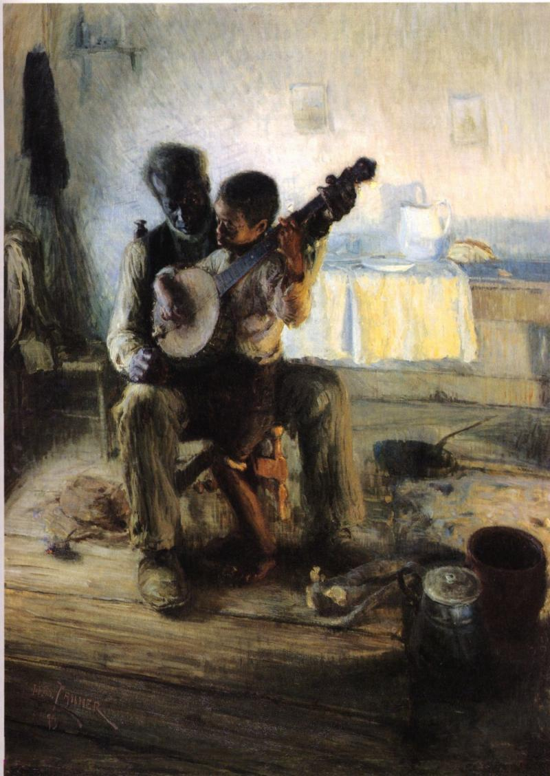 "Henry Ossawa Tanner - ""The Banjo Lesson"" (highlighted story below)"