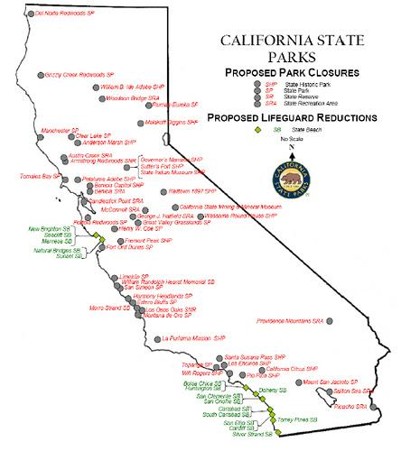 map of california state parks image collections
