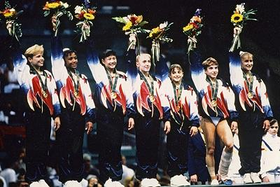 1996 --- U.S. Women's Gymanstics team wins it's 1st Gold Medal (highlighted story below)