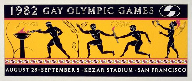 Robert Anderson (American, b. 1953) 1982 Gay Olympics, 1982 Color screen print Museum purchase, Achenbach Foundation for Graphic Arts Endowment Fund. Photograph © FAMSF