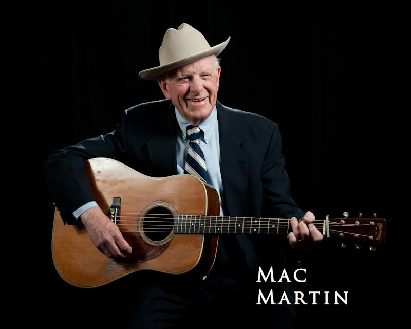 A recent photo (by Mike Melnyk) of bluegrass pioneer Mac Martin