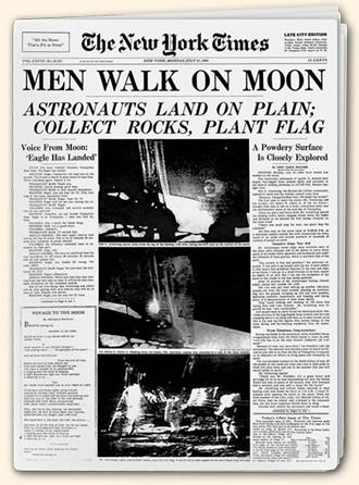 1969 - Man on the Moon (highlighted story below)