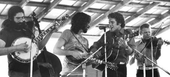 Old & In the Way (L->R): Jerry Garcia, David Grisman, Peter Rowan, Vassar Clements