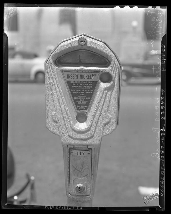1935 - First Parking Meter, Oklahoma City (highlighted story below)